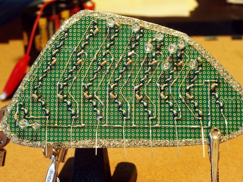 デミオ DE リアフォグ LED加工