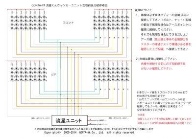 画像2: ごんた屋の流星くんウィンカー115パターン 8ブロック 外スイッチ仕様