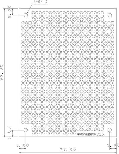 画像1: ユニバーサル基板72mm×95mm