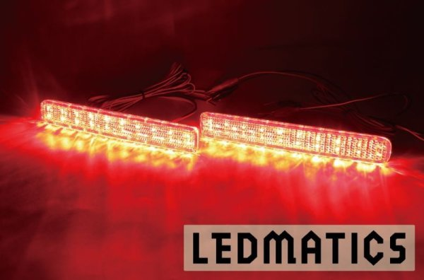 画像1: MK53S スペーシア カスタム 純正加工LEDリフレクター S1-40 (1)
